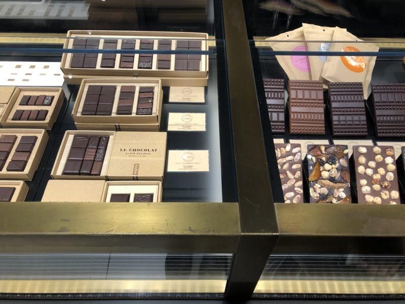 ル・ショコラ・アラン・デュカス 大丸心斎橋店のチョコレート (ボンボン・ショコラと板チョコ)