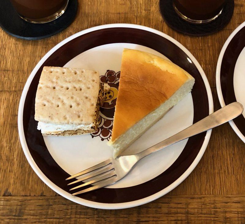 NY チーズケーキ と スモア