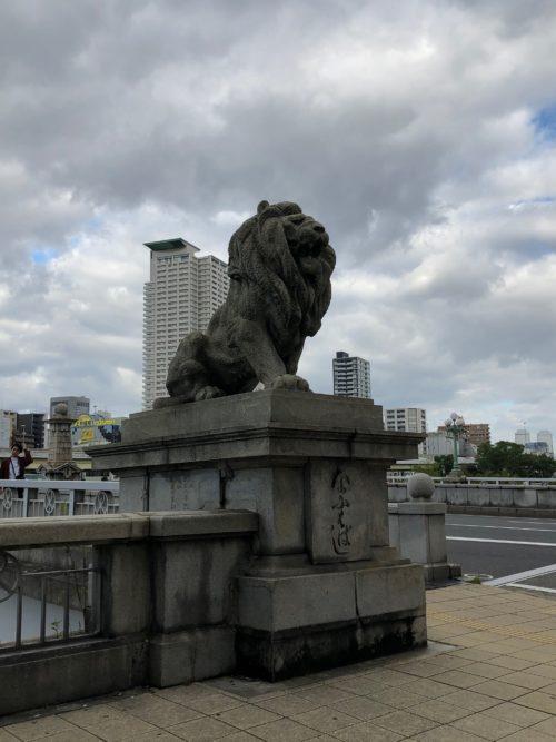 北浜のライオン橋