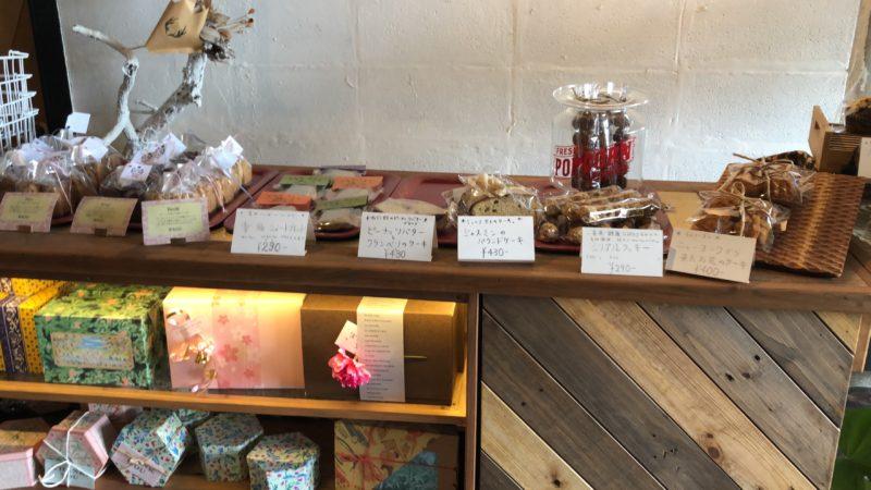 焼き菓子のコーナー