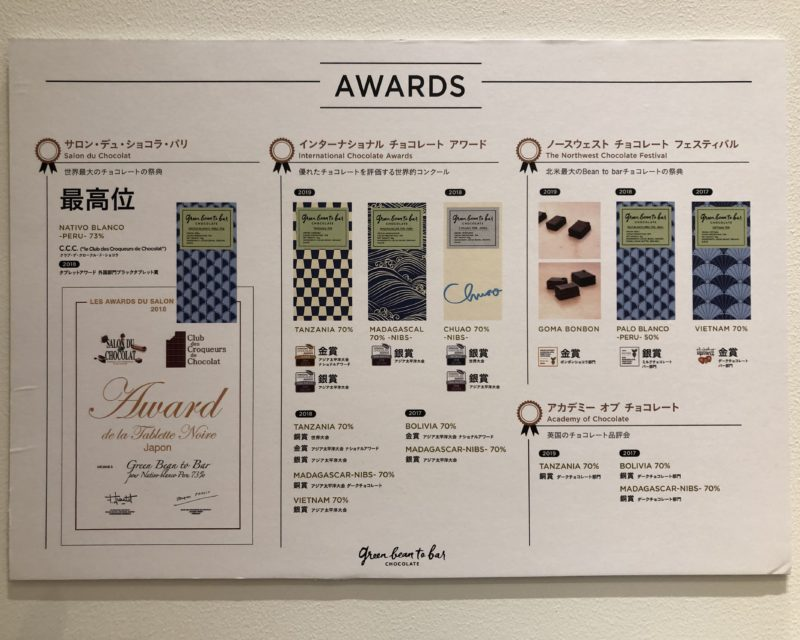 green bean to bar CHOCOLATE 【京都 新風館】の板チョコレート
