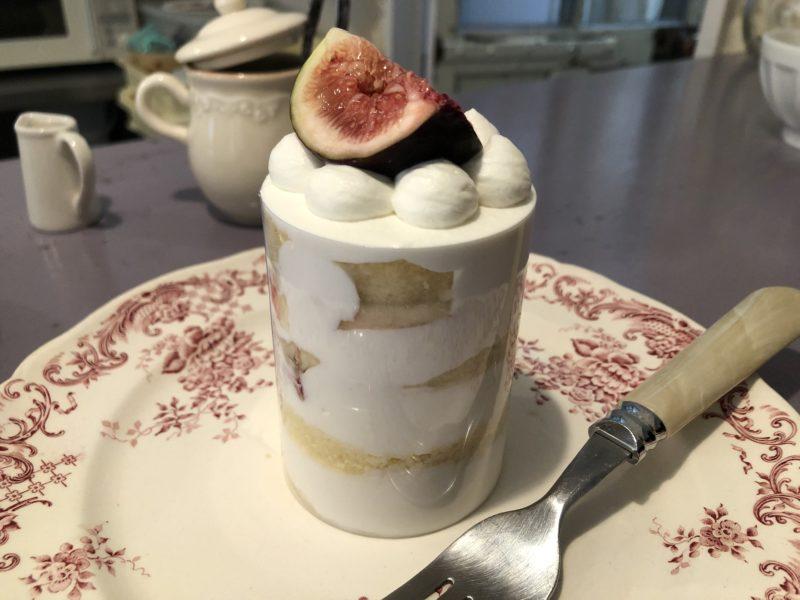 パティスリー ブーケ (patisserie bouquet) の いちぢくのショートケーキ
