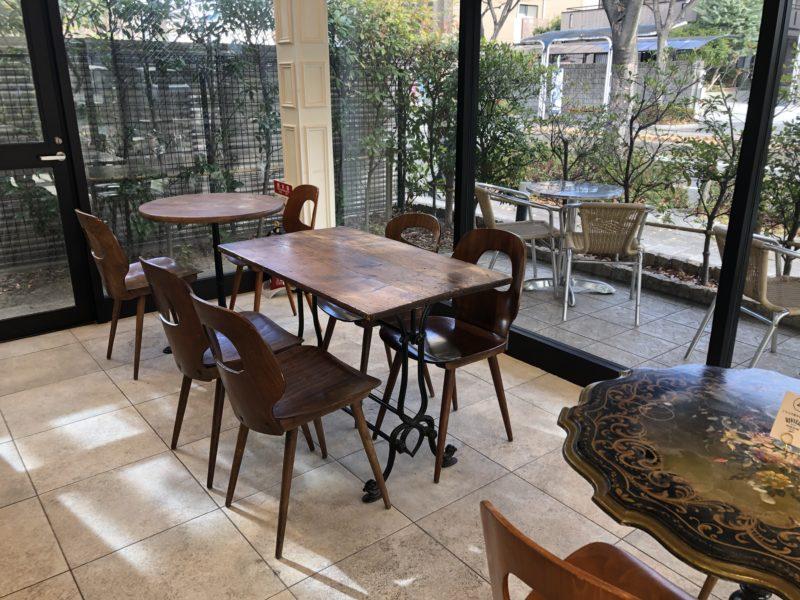 リビエールのカフェ スペース